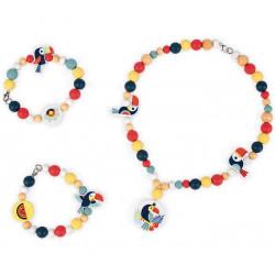 JANOD perles en bois toucan