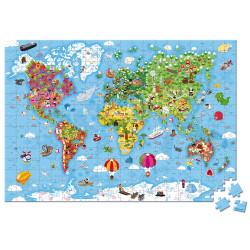 JANOD - puzzle géant du monde